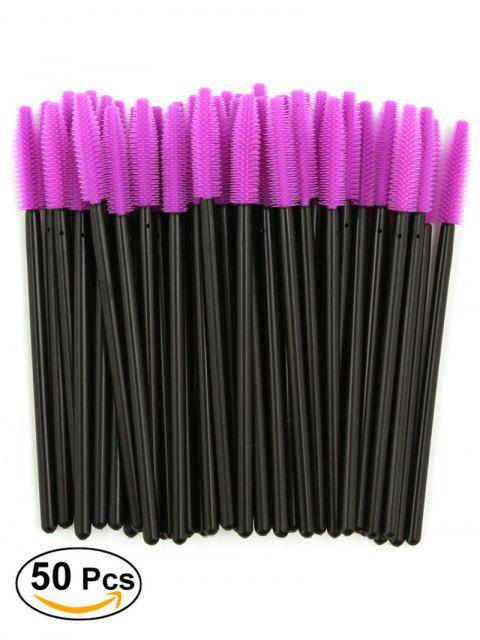 50 PC / Pack Cepillos del Groomer de la Ceja del Ojo Disponible del Silicón - Púrpura  Mobile