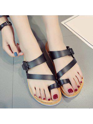 Buckle Strap Toe Loop Slippers