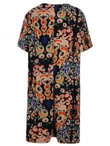 f66708afddc 2019 Plus Size Funny Printed Knee Length Tee Dress In MULTICOLOR XL ...