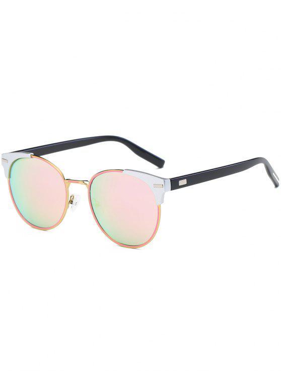 جولة مرآة عين القط الرجعية النظارات الشمسية - زهري