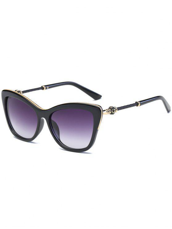 نظارات شمسية على شكل فراشة - مشرق أسود + رمادي