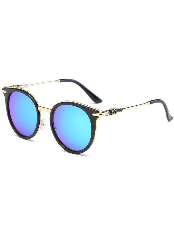 مرآة عاكسة جولة خمر القط العين النظارات الشمسية - الثلج الأزرق