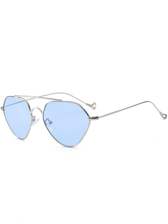 online Asymmetric Hollow Out Leg Geometrical Sunglasses - LIGHT BLUE
