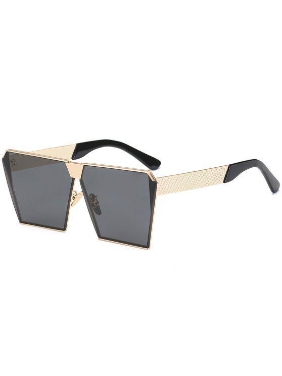 Vintage marco marco gafas de sol - Negro