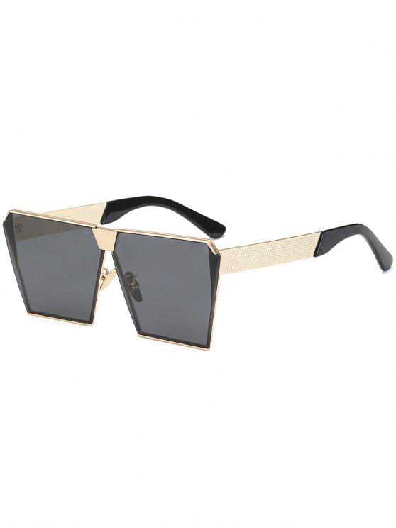 women's Vintage Square Frame Sunglasses - BLACK