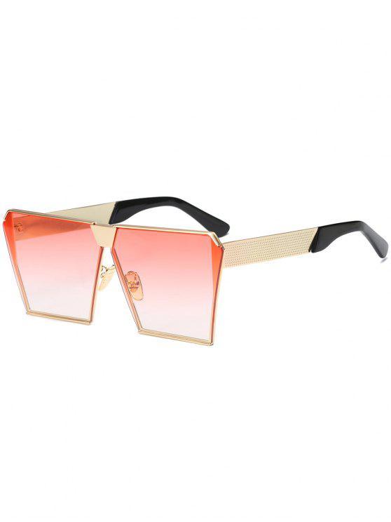 buy Vintage Square Frame Sunglasses - PINK