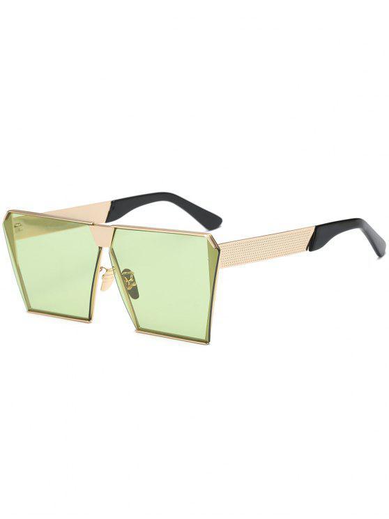 affordable Vintage Square Frame Sunglasses - GREEN