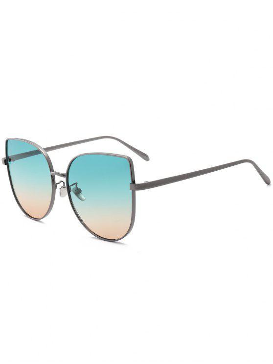 shops Gradient Color Cat Eye Sunglasses - GREEN