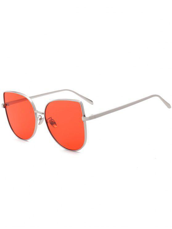 نظارات شمسية تصميم مكافحة الأشعة فوق البنفسجية أومبير تصميم واسعة عين القط - أحمر