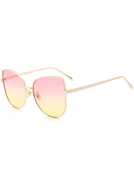 outfit Gradient Color Cat Eye Sunglasses - PINK