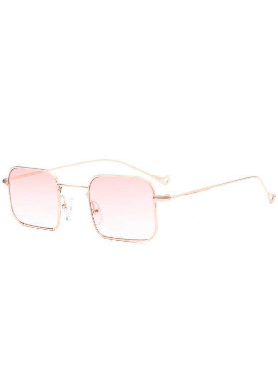 trendy Ombre Asymmetric Hollow Out Leg Rectangle Sunglasses - PINK