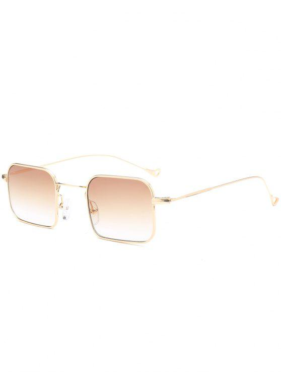 fashion Ombre Asymmetric Hollow Out Leg Rectangle Sunglasses - TEA-COLORED