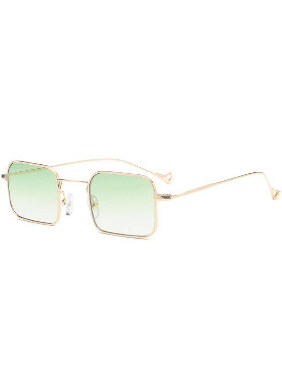 latest Ombre Asymmetric Hollow Out Leg Rectangle Sunglasses - GREEN