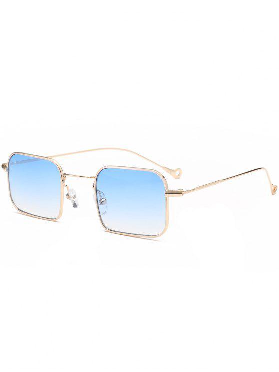 Ombre asimétrico ahueca hacia fuera el rectángulo de la pierna gafas de sol - Azul Claro