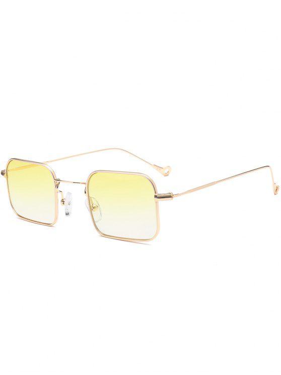 fancy Ombre Asymmetric Hollow Out Leg Rectangle Sunglasses - YELLOW