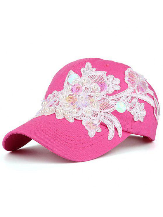 قبعة بيسبول مزينة بالدانتيل واللؤلؤ الاصطناعي - نوع من انواع الحلويات يدعى توتي فروتي