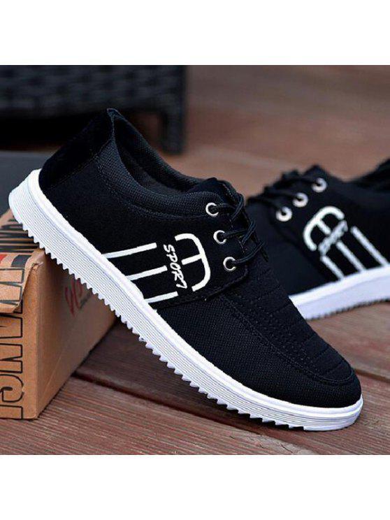 خياطة تنفس التعادل حتى الأحذية عارضة - أسود 43