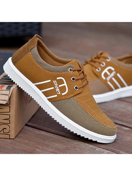 حذاء للرجال بأربطة قابل للتهوية - كاكي 41