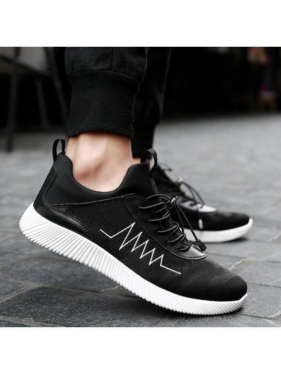 طباعة تنفس سلسلة أحذية رياضية - أسود 42
