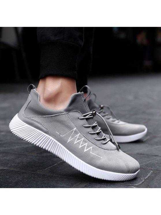 طباعة تنفس سلسلة أحذية رياضية - رمادي 43