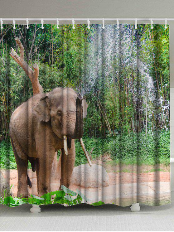 الفيل رذاذ الماء اضافية طويلة دش الستار - أخضر W71 بوصة * L79 بوصة