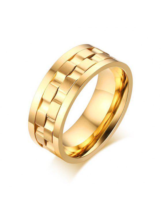 الفولاذ المقاوم للصدأ حلقة التمسك الإصبع - ذهبي 7