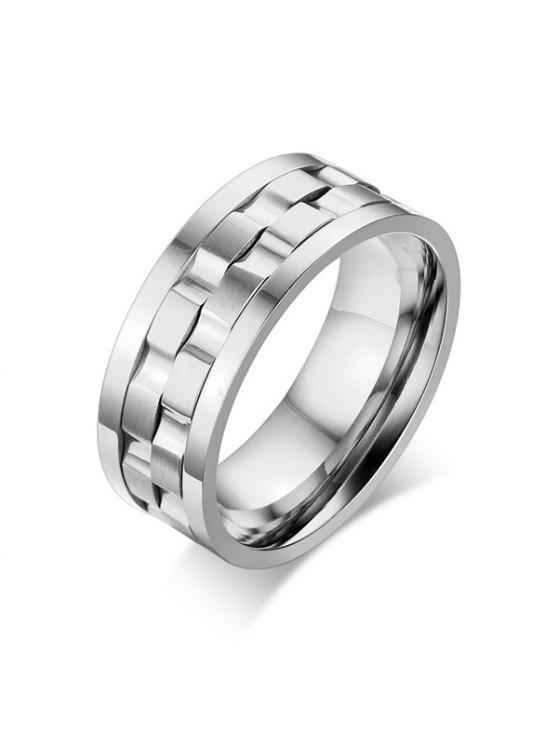 الفولاذ المقاوم للصدأ حلقة التمسك الإصبع - فضة 8