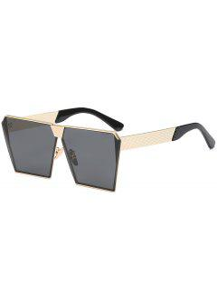 Vintage Square Frame Sunglasses - Black