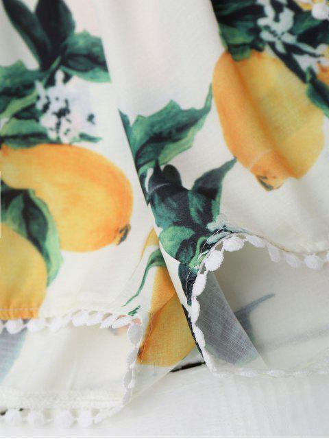Ensemble de short à couper le dessus au citron Halter - Blanc L Mobile
