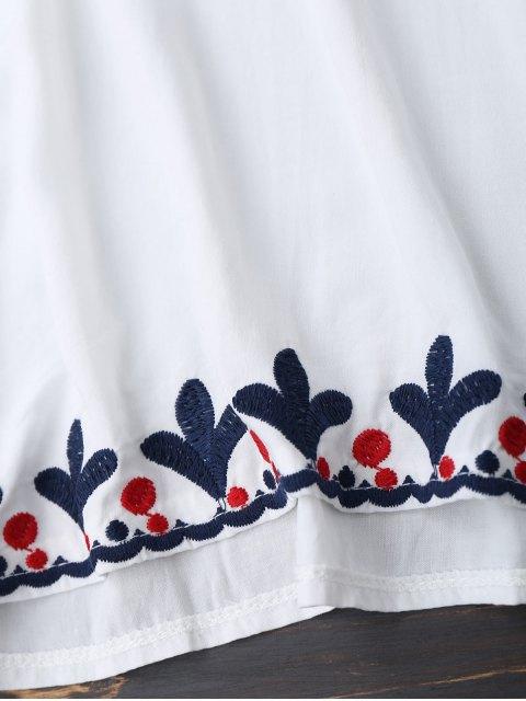 Top brodé surdimensionné de perles - Blanc TAILLE MOYENNE Mobile