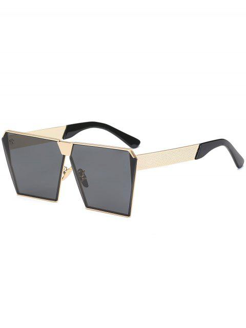 women's Vintage Square Frame Sunglasses - BLACK  Mobile