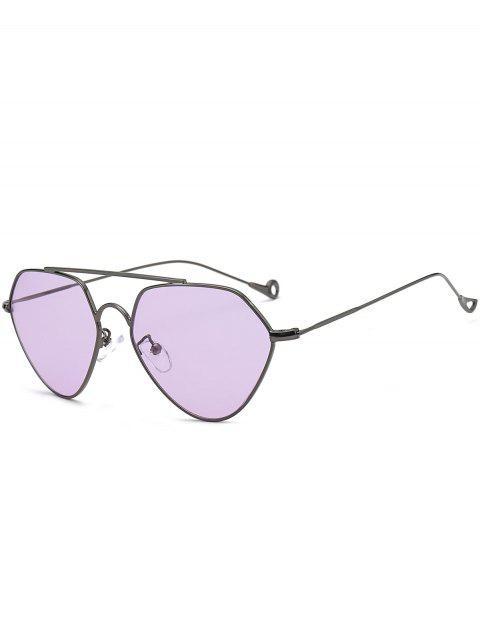 Asymmetrische Höhles Bein Geometrische Sonnenbrillen - Lila  Mobile
