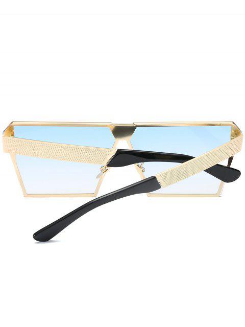 womens Vintage Square Frame Sunglasses - LIGHT BLUE  Mobile