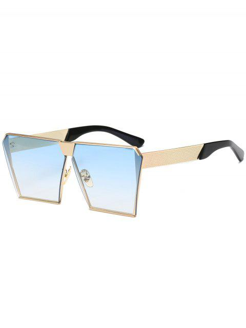 womens Vintage Square Frame Sunglasses - LIGHT BLUE  Mobile