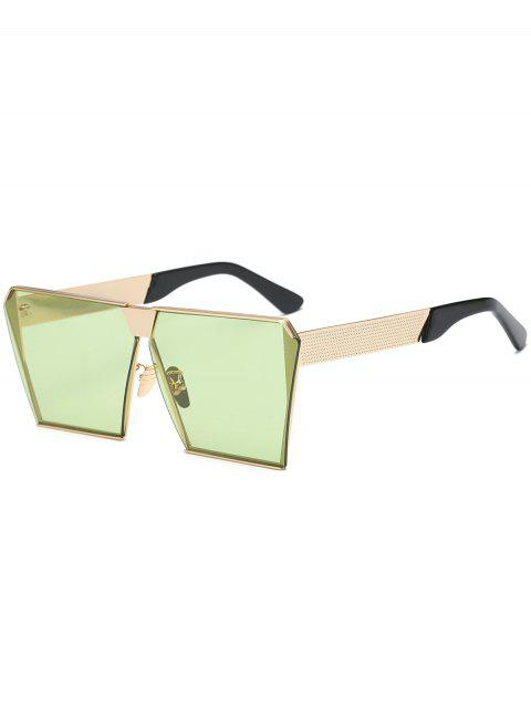 affordable Vintage Square Frame Sunglasses - GREEN  Mobile