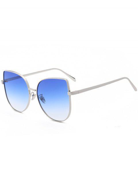 lady Gradient Color Cat Eye Sunglasses - BLUE  Mobile