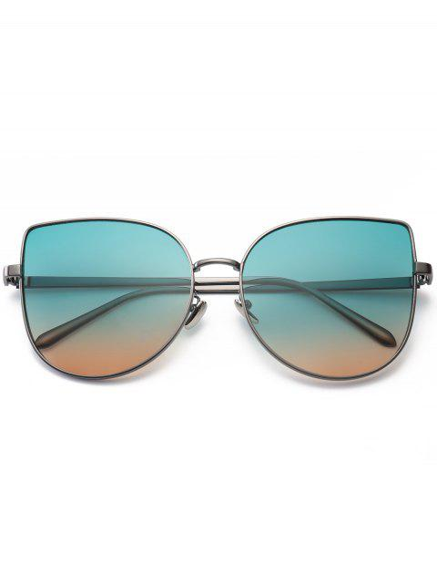 shops Gradient Color Cat Eye Sunglasses - GREEN  Mobile