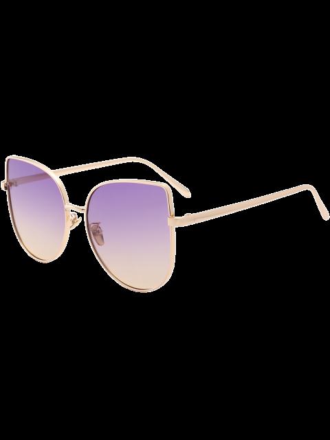 outfits Gradient Color Cat Eye Sunglasses - PURPLE  Mobile