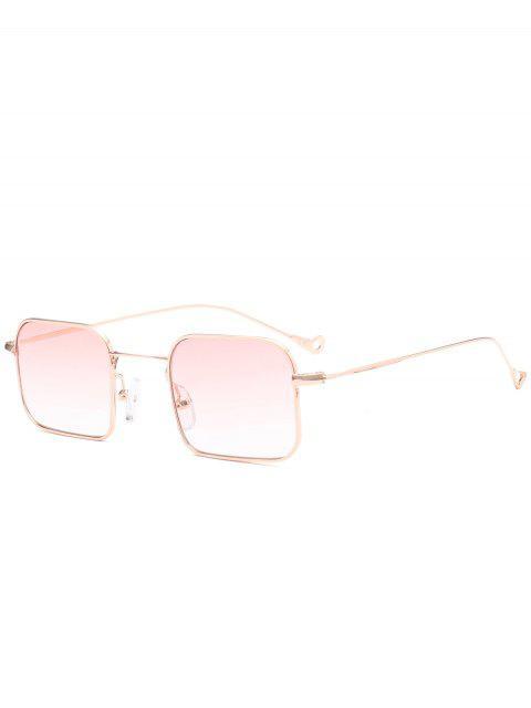 Farbverlauf Asymmetrische Höhles Bein Rechteck Sonnenbrille - Pink  Mobile