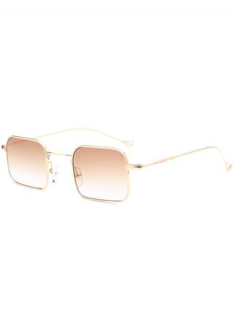 fashion Ombre Asymmetric Hollow Out Leg Rectangle Sunglasses - TEA-COLORED  Mobile