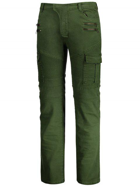 new Zips Biker Pants with Multi Pockets - GREEN 3XL Mobile