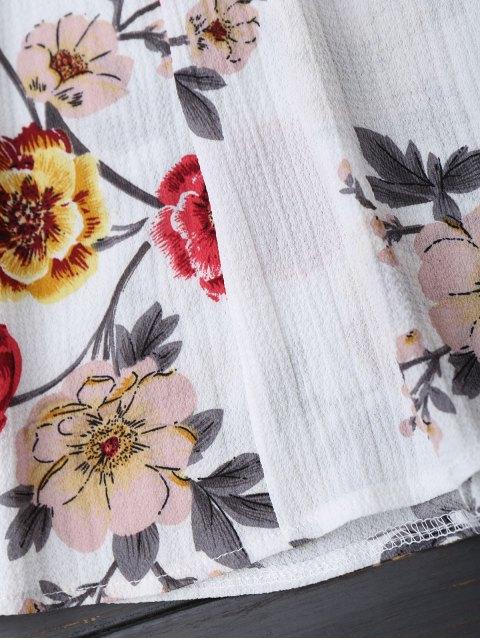 Top Floral à Col V Des Épaules Nues - Floral S Mobile
