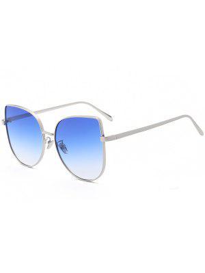 Lunettes De Soleil à Couleur Gradient Aux Yeux Chat - Bleu