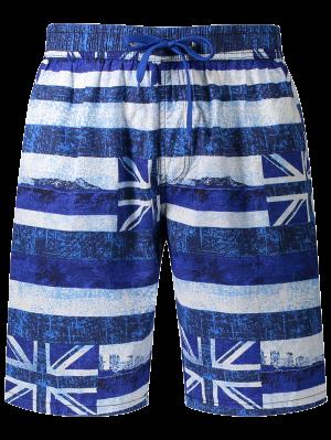 Union Jack gedruckte gestreifte Brett-Shorts