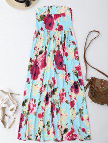 Vestido Escote Con Vacaci Floral Estampado Maxi Ba M era De Con Floral 243;n rFwXrS