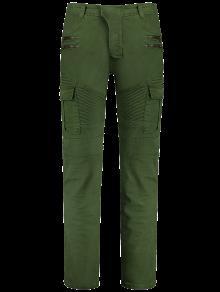 زيبس السائق السراويل مع جيوب متعددة - أخضر Xl