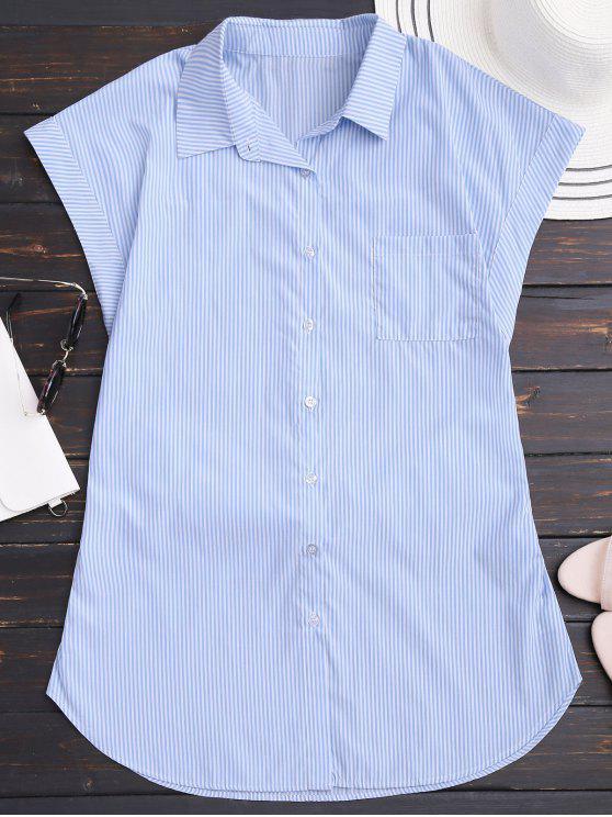 فستان مخطط بونوت مصغر شيرت - شريط L