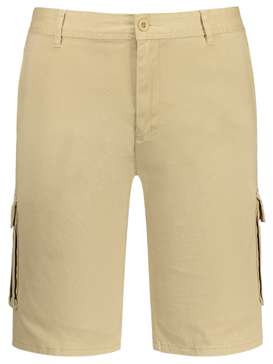 Multi Pockets Bermuda Cargo Shorts - Caqui 36