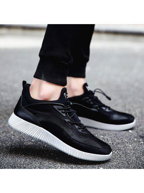 تمتد النسيج المطبوعة سلسلة أحذية رياضية - أسود 44