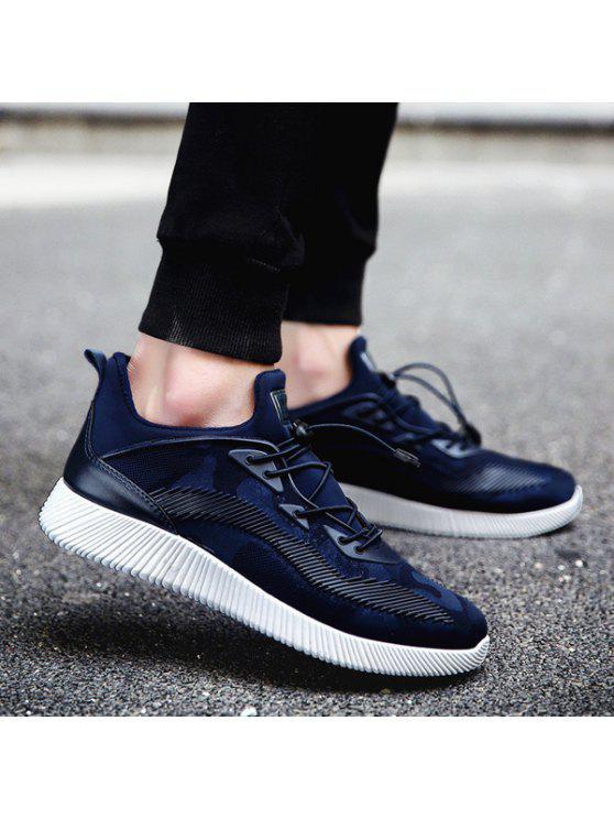 حذاء رياضي مصنوع من نسيج مطاطي للرجال - ازرق غامق 40